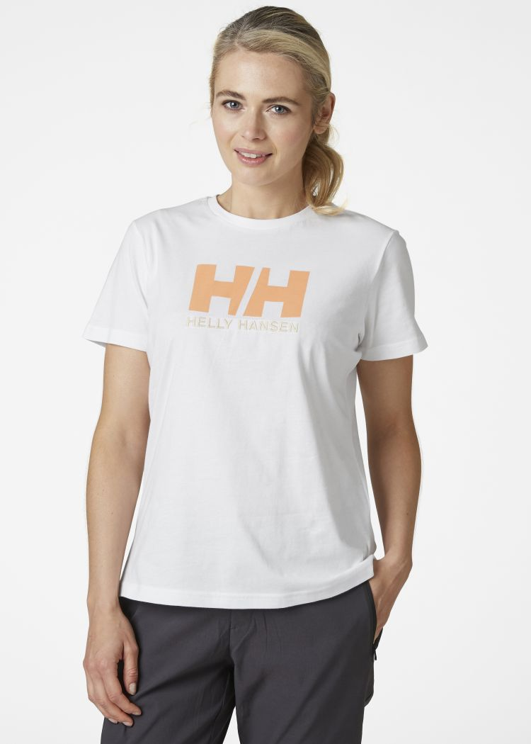 helly hansen logo tskjorte dame hvit foran