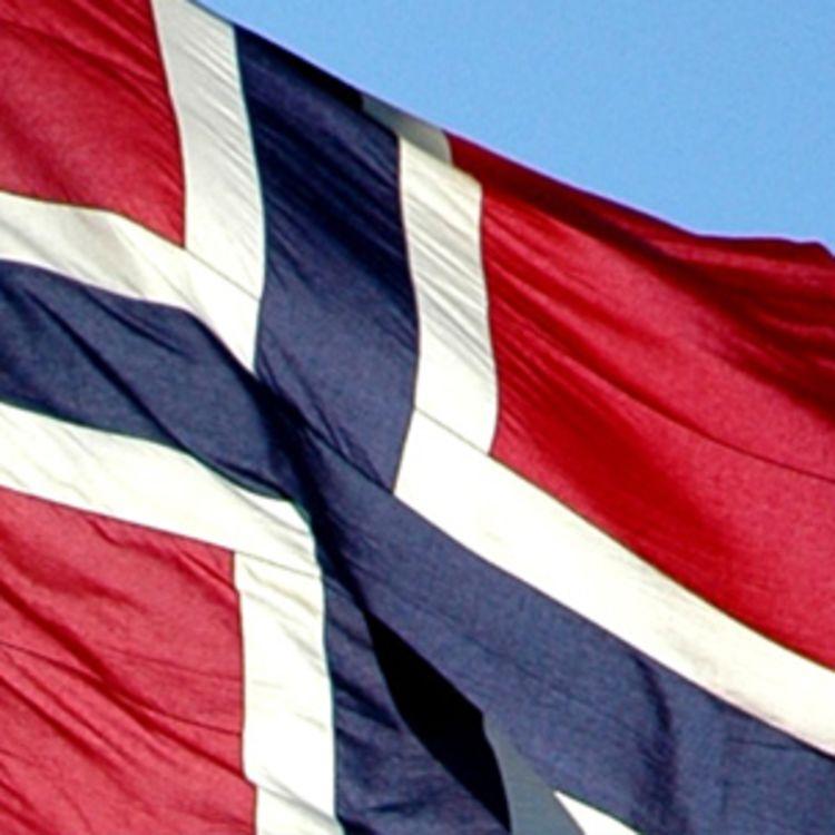 norsk flagg nærbilde