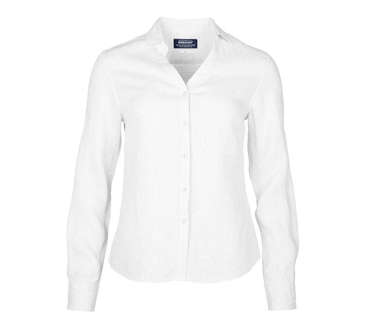 sebago bianca linen shirt hvit. produktbilde tatt forfra