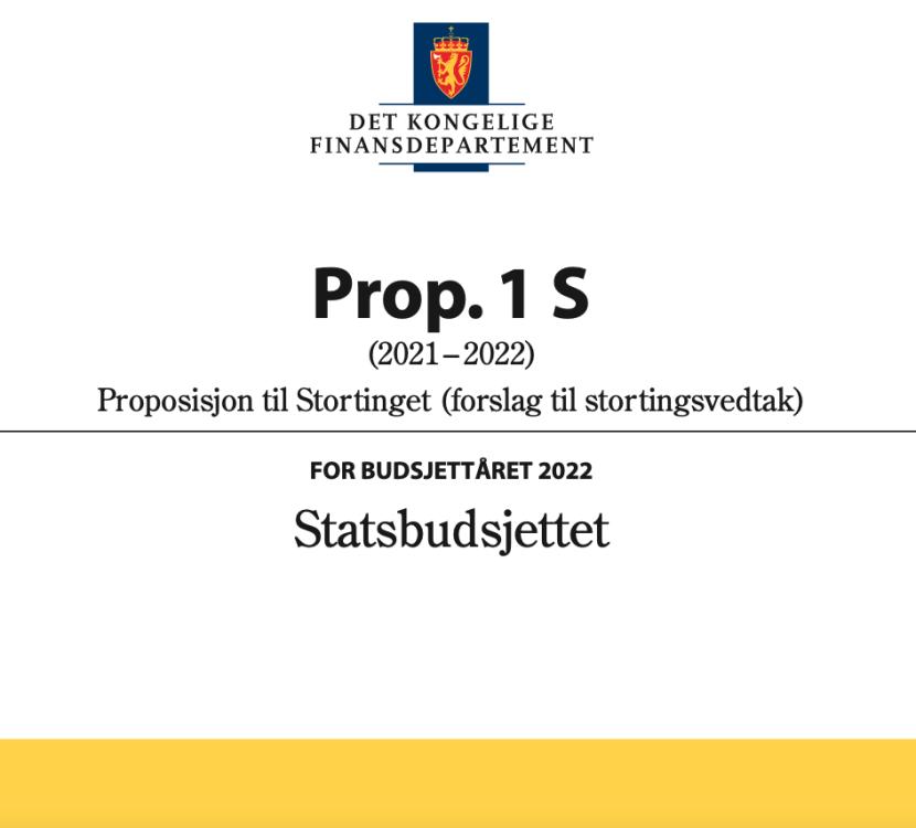 LIN om statsbudsjettet 2022