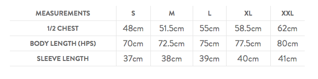 Size Guide - Contrast Cool Tee