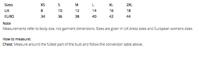 R194F Size Guide
