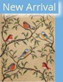 Trans-Ocean Ravella Birds On Branches 2270/12 Natural Area Rug