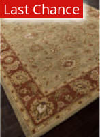 Addison And Banks Hand Tufted Abr0524 Kelp/Brick Red Outlet Area Rug