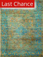 Rugstudio Sample Sale 133597R Gold-Blue Area Rug
