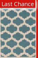 Rugstudio Sample Sale 137519R Teal - Ivory Area Rug