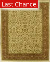 Benjamin Rug Imports Showcase 1009 Ivory / Rust Area Rug