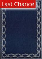 Rugstudio Sample Sale 179838R Ivory - Indigo Area Rug