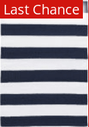 Rugstudio Sample Sale 158898R Navy - White Area Rug