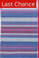 Rugstudio Sample Sale 160871R Blue-Red Area Rug