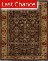 Rugstudio Sample Sale 168039R Black - Gold Area Rug