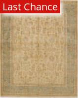 Rugstudio Sample Sale 168063R Cream - Aqua Area Rug