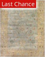 Rugstudio Sample Sale 190908R Light Blue - Gold Area Rug