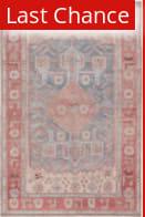 Rugstudio Sample Sale 217666R Pink - Blue Area Rug