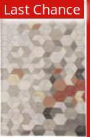 Rugstudio Sample Sale 186059R Light Gray - Orange Area Rug