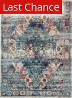 Rugstudio Sample Sale 204784R Multicolor - Blue Area Rug