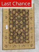 J. Aziz Peshawar Black-Beige 86961 9' x 12' 4'' Rug