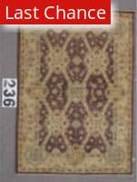 J. Aziz Peshawar Wool-Sil Brown-Beige 87058 Area Rug