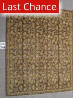 J. Aziz Peshawar Brown-Brown 87022 8' 1'' x 9' 10'' Rug