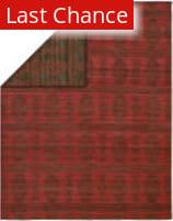 Rugstudio Sample Sale 123255R Charcoal - Red Area Rug