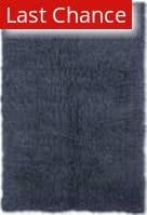 Linon New Flokati 1400 Grams Denim Blue Area Rug