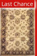 Linon Rosedown Slsg25 Pale Gold / Chocolate Area Rug