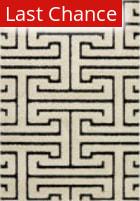 Rugstudio Sample Sale 158153R White - Black Area Rug