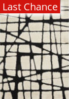 Rugstudio Sample Sale 181613R White - Black Area Rug