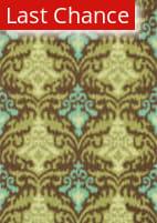 Rugstudio Sample Sale 68290R Brown / Green Area Rug
