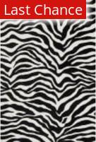 Rugstudio Sample Sale 113363R Ivory / Black Area Rug
