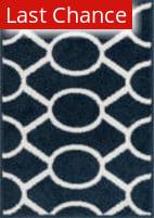 Rugstudio Sample Sale 125770R Navy - Ivory Area Rug