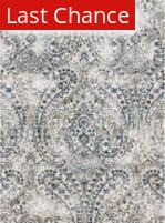 Rugstudio Sample Sale 141190R Ivory - Indigo Area Rug