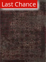 Rugstudio Sample Sale 113883R Charcoal / Red Area Rug
