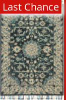 Rugstudio Sample Sale 167394R Teal - Grey Area Rug