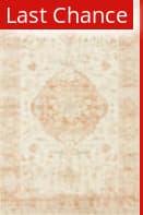 Rugstudio Sample Sale 216896R Ivory - Terracotta Area Rug