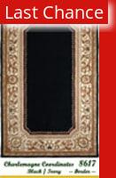 Rugstudio Sample Sale 18893R Black-Ivory Border Area Rug