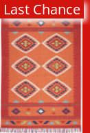 Rugstudio Sample Sale 186756R Orange - Red Area Rug