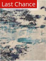 Rugstudio Sample Sale 193662R Ivory Teal Blue Area Rug