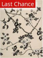 Rugstudio Sample Sale 25316R Black-Ivory Area Rug