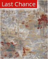 Rugstudio Sample Sale 207978R Silver - Grey - Yellow Area Rug