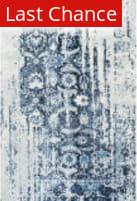 Nuloom Distressed Ernestina Flourish Blue Area Rug