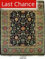 Org Handtufted Oushak Black Area Rug