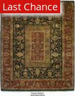 ORG Persian Classics GC40 Black / Brick Red Area Rug