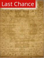 ORG Indo-Peshawar D-122 Light Brown Area Rug