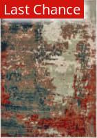 Rugstudio Sample Sale 189616R Blue - Rust Area Rug