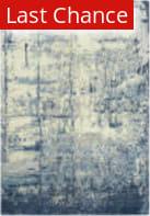 Rugstudio Sample Sale 196558R Blue - Ivory Gray Area Rug
