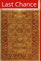 Rugstudio Sample Sale 49827R Green / Rust Area Rug