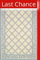 Rugstudio Sample Sale 46370R Ivory / Light Blue Area Rug