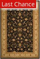 Rugstudio Sample Sale 50061R Black / Ivory Area Rug