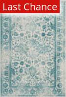 Rugstudio Sample Sale 192433R Ivory - Teal Area Rug